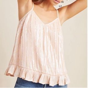 Anthropologie Amelie Beaded Sequin Top Pink 10